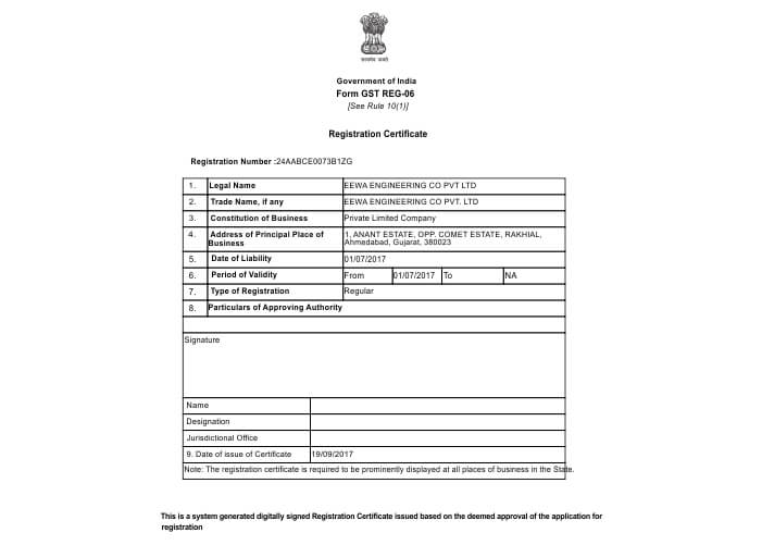 GST-Regisration-Certificate Sample Application Form In Tamil on business credit, car loan, us passport renewal, german schengen visa, for matron job, u.s. passport, auto loan,